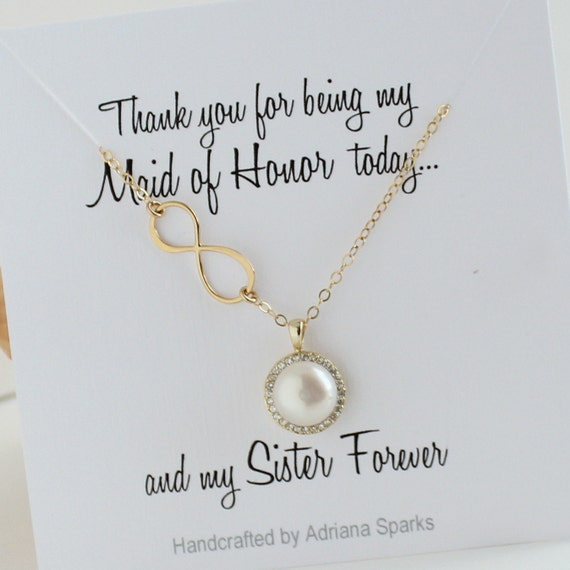 ... , Sister card, Maid of Honor Card necklace, Maid of Honor Gift Sister