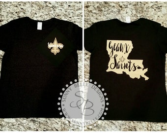 Personalized Saints Shirt; Ladies' shirt; New Orleans Saints