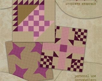 CU Digital Quilt Block Templates Set 5