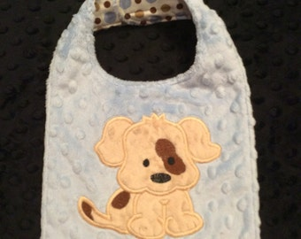 Puppy Minky Bib, CLEARANCE SALE