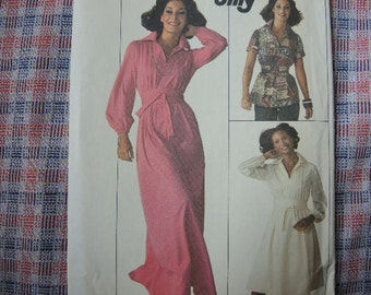 vintage 1970s simplicity sewing pattern 7617 jiffy dress in two lengths or top uncut size 10