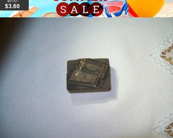 SALE 60% Off Fenway chocolates newspaper printing press advertising print press wood metal stamp