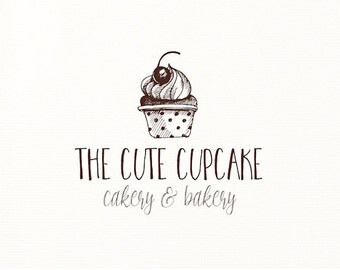 cupcake logo hand drawn sketch - Logo Design #712