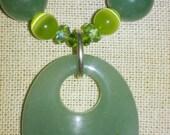 Green Semi-Precious Stone Rastafari Necklace