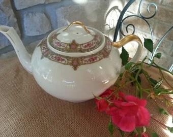 Antique Limoges France Teapot Fine French Limoges Porcelain A. Lanternier  & Co . Limoges France LNT10 Pattern 19th century back mark
