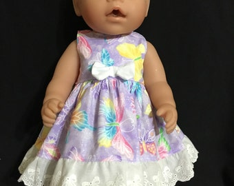 "Dolls clothes made to fit 42cm (16"") Baby Born, Baby Alive, Cabbage Patch and other similar sized dolls"