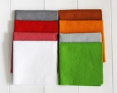 Craft Felt Pack - Festive Fancy, Pack of Craft Felt, Eight Pieces 23cm x 23cm Wool Blend Felt Squares, Felt Stashbooster