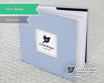 Twins Baby Memory Book - Baby Blue