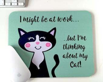 Cat Mouse Pad - Cat Mouse Mat - Office - Desk