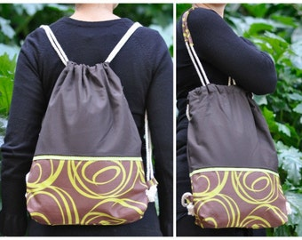 Backpack or shopping bag combination brown