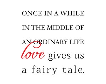 "12""x12"" Fairy Tale Love Poster"