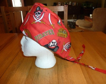 Scrub Hat Surgical Hat Chef Hat Pirates Treasure and Pirate Ships