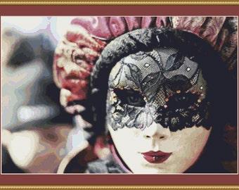 Lace Mask Cross Stitch Pattern