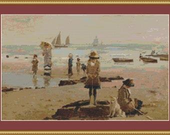 By The Seaside Cross Stitch Pattern