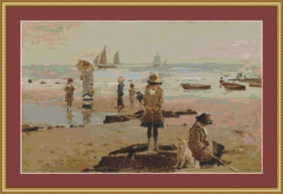 By The Seaside Cross Stitch Pattern /Digital PDF Files /Instant downloadable