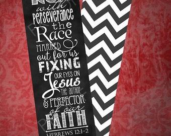 Set of 5 Hebrews 12:1-2 Bookmarks