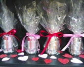 Valentines 5 Piece Lip Balm Gift Set With Glass Heart Shaped Tealight Holder