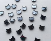 Pretty Black Mirror Kitty Kawaii earrings