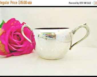 Vintage Silver  Serving Sugar  Bowl  F B Rogers Silver Plate cup