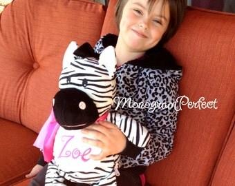 """Personalized 16"""" Plush Zebra Stuffed Animal"""