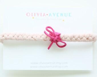 Pinks Braided Jersey Headband - Boho Headband