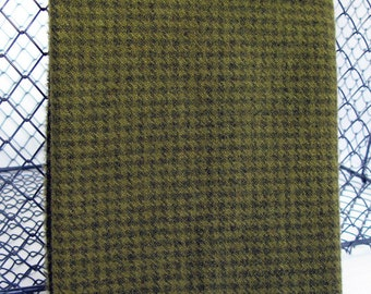 Felted Wool Fabric - Hand Dyed Wool Fabric in Sage Green Fat Quarter - Houndstooth - Applique or Rug Hooking Wool