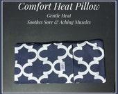 NiaMassage Comfort Heat Pillow - Navy Trefoil