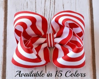 Red Hair Bow, Hair Bows, Hair Bows for Girls, Toddler Hair Bows, Baby Hair Bows, Hairbows, Hair Clips for Girls, Large Hair Bow, 4 inch Bow