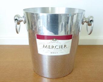 Aluminum Mercier Champagne bucket, Argit made in France