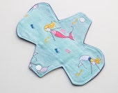 "Mermaids Baby Seahorse Narwhal Turtles - 7"" Light Flow Pantyliner - Ultra thin Trim"