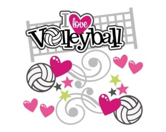 Scrapbook embellishment, Volleyball scrapbook, Volleyball die cut, Scrapbook die cuts, sports die cuts, sports scrapbook,