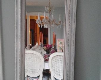 Feminine beveled shabby chic mirror