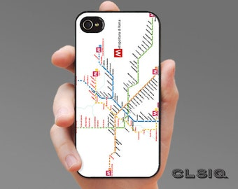 Rome Italy Metro Map Case for iPhone 6/6S, 6+/6S+, 5/5S, 5C, 4/4S, iPod Gen 5, Samsung Galaxy S6, Galaxy S5, Galaxy S4, Galaxy S3