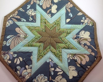 Blue and Green Star Hot Pad