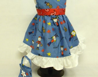 4th Of July Dress For 18 Inch Doll Like The American Girl