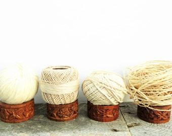 Napkin Rings - Natural Wood - 4 - Hostess Gift - Indian Boho Chic