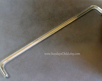 Glass Towel Rod - Vintage Towel Bar - Glass Towel Holder from the 1930's - Art Deco