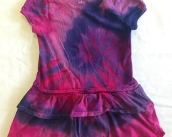 Kids Funky Tie Dye Tshirt Dress size 8 K100