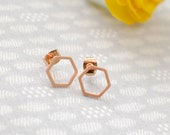 The Paige Earrings - Rose Gold