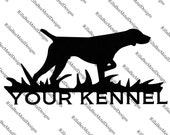 Custom Name Dog Metal Sign