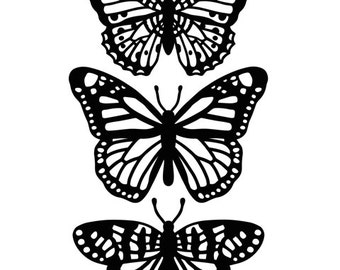 BUTTERFLY TRIO -EMBOSSiNG Folder    - A2 SiZE -In STOcK **Darice-