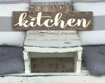 Kitchen Wood Sign | Autumn Wall Art | Kitchen Sign | Autumn Rustic Sign | Wooden Sign |  Farm house Sign | Gather | Autumn Decor | Kitchen