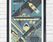 Jaws - 1975 - 17x11 Poster