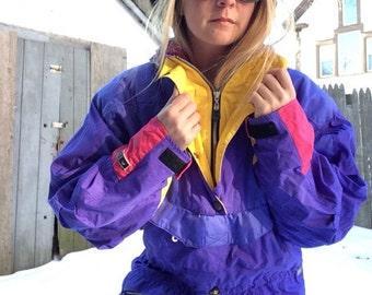 1980s 90s ski coat sz med edge tech parka