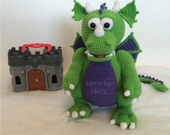 PDF Pattern: Cedric the Dragon **Crochet pattern only, not actual doll!**