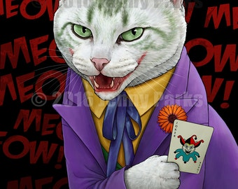 Joker Cat Poster