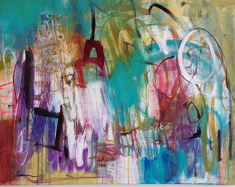 Large Abstract Art/ Painting