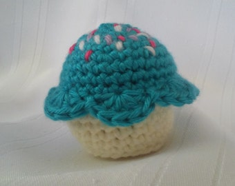 Cupcake, Crochet Cupcake, Cupcake Toy, Play Food, Amigurumi Cupcake, Cupcake Pincushion