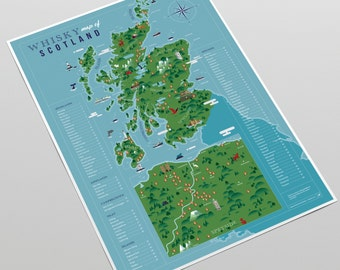 Whisky Map of Scotland (A3 print)