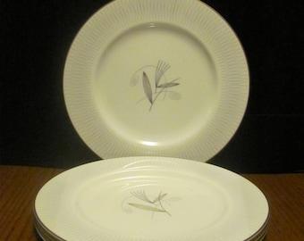 Atomic Noritake Dinner Plates Clinton Pattern Mid Century